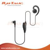 Ricevitore telefonico dell'amo dell'orecchio di figura di C con il microfono in-linea delle PPTT per le radio di Motorola