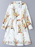 Alineada impresa floral del estilo de la capa de la última de la alineada del diseño manera de las mujeres