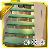 Balaustrada dos trilhos da escada do vidro Tempered com certificado do CE