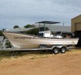 Liyaパンガ刀25フィートのパンガ刀の漁船のガラス繊維の漁船の
