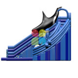 Diapositiva inflable de calidad superior de la ballena de la diapositiva de agua con venta al aire libre de la piscina