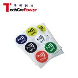 Etiqueta de papel fresca de la etiqueta engomada NFC de las muestras libres 13.65MHz RFID de la etiqueta 21-11 de NFC Topaz512 NFC