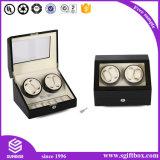 Rectángulo de reloj de empaquetado del regalo de la visualización de encargo de la insignia de la alta calidad