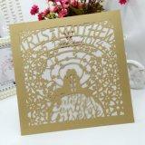 Карточка приглашения бумаги перлы офсетной печати полного цвета изготовленный на заказ