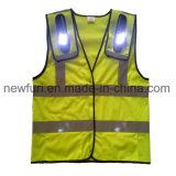 Светоотражающие куртка с улучшенным обзором майка с светодиодные индикаторы красного и синего цвета