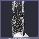 Elegante Schwarzweiss-Zeile Dekoration-rauchendes Wasser-Rohr