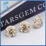 1.5cts 화려한 커트 Champagne 색깔 Moissanite 둥근 다이아몬드