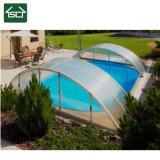 Bâche de piscine avec cadre en alliage en aluminium et de la résistance du vent