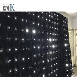 Rk mayorista fábrica estrella LED resistentes al fuego para la boda de cortina