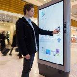 Suelo al aire libre del anuncio que coloca la visualización del LCD