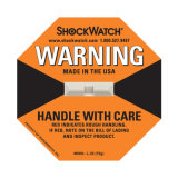 Escrituras de la etiqueta de la marca del envío del Shockwatch del amortiguador de choque 25g-100g