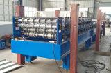 Zwei Schichten PPGI trapezoides Dach-Panel-Rollen-, welchedie maschinen-doppelte Schicht-Rolle bildet Maschine bilden