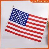 Vérifier à damier noir & blanc petite main agitant drapeau américain