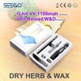 Kit asciutto del vaporizzatore Pen+Battery dell'erba della ricarica W&D di Seego Vhit migliore