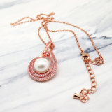 AAAのジルコンのShort Brass Chain Pearl方法女性ネックレス