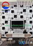 La conception 3D pour la télévision de fond de papier peint en PVC