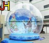 Воздушный шар выставки глобуса снежка Dia 4m раздувной для промотирования рождества