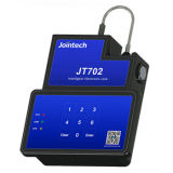 Die Behälter-Dichtung GPS, die Verschluss aufspürt, entsperren durch SMS Tastatur-Kennwort-Software APP für das Behälter-Tür-Sperrung und Ladung-Sicherheit