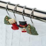 Рождество мультфильм Санта-Клаус Polyresin душ крюки
