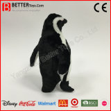 Pingüino relleno juguete realista de la felpa de ASTM para la promoción