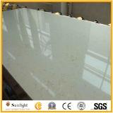 Weiß färbt festen künstlichen Steinoberflächenquarz für Küche-Oberseiten