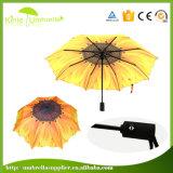 공장 가격 주문 로고 자동적인 열려있는 마지막 3 겹 우산