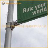 Pôle de la rue de la publicité de métal d'un drapeau de l'équipement (BT68)