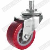 50mm PU-Rad Feuergebühren-PU-Fußrollen-Rot (G2201)