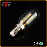 Lampadine dell'indicatore luminoso di lampadina del filamento LED di AC85-260V 2W E14 T25 LED