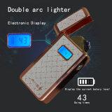 Электронный USB Аккумулятор двойной Arc легче катушка прикуривателя со светодиодной подсветкой экрана и использования емкость аккумулятора