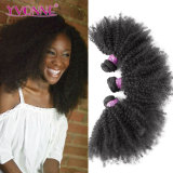 Formafro-lockige brasilianische Haar-Menschenhaar-Webart 100%