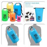 sacchetto asciutto di galleggiamento impermeabile di spostamento del pacchetto dell'oceano della spiaggia del PVC 500d