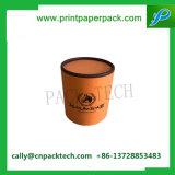 Коробка круглого цилиндра бумажная с печатание логоса