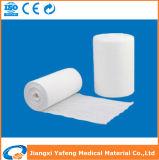 Rolo 100% cirúrgico absorvente médico da gaze do algodão