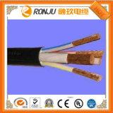 Электрический погружение насоса на магнитофонную ленту из стали с двойной кабель бронированные кабель питания