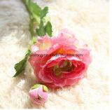 Großhandelsseide blüht künstliche Roseheads Kunstseide Rose für Hochzeits-Dekoration