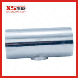 Le raccord de tuyau en acier inoxydable soudés hygiénique réduisant T court