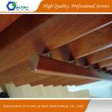 Ventana/puerta de madera maciza color marrón de obturador de la casa de Villa
