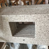 De opgepoetste Grijze Steen van het Kwarts van het Graniet Imitatie voor Bovenkant