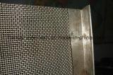 Rete metallica unita tessuta pianura dell'acciaio inossidabile degli ss 304 con il foro di 25mm