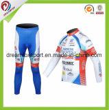 La bicicleta fantástica Jersey de los hombres de encargo de la ropa de deportes sublimó desgaste de ciclo de la impresión