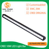 La barra de luz LED impermeable 180W LED de fila única conducción offroad