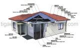 Schnelle Installations-feuerfestes Mineralwolle-Zwischenlage-Panel-vorfabriziertes Haus