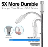 Il USB digita a cavo di C il cavo veloce del caricatore dei 2 pacchetti (USB 2.0) per la nota 8, S8, S8 della galassia di Samsung più, LG G6 G5 V30 V20