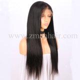 Peluca larga recta con el chino Remy cabello humano.