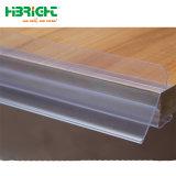 Parlatore di plastica della mensola del supporto del segno del contrassegno della modifica di prezzi del PVC della visualizzazione di buona qualità per legno/vetro
