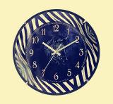 Comme à chaud en bois de la vente de quartz Horloge murale noire