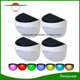 정원을%s 태양 반 벽 빛 RGB 잘 고정된 태양 담 포스트 램프 원형 방수 장식적인 점화