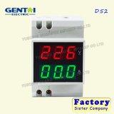좋은 품질 D52 1/2 인치 LED AC 디지털 전압계 DIN 가로장 전류계
