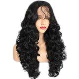 Dlme парик волос естественной черной объемной волны длиной синтетический